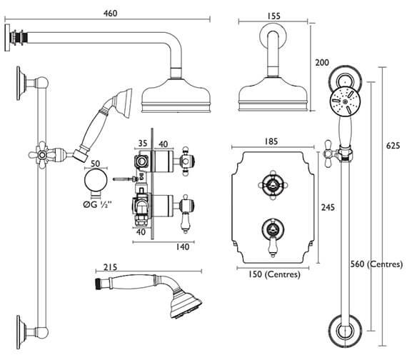 Technical drawing QS-V82388 / SGDUAL03