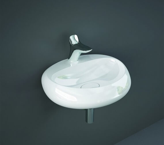 RAK Cloud 550mm Wide Wall Hung Oval Basin With 1 Tap Hole