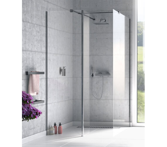 Aqualux Origin 8 Walk In Shower Panel With Single Splash Panel And Installation Kit