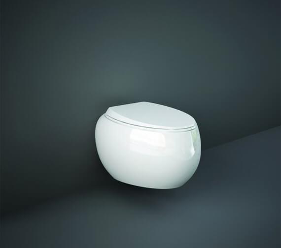 RAK Cloud Rimless Wall-Hung WC Pan With Urea Soft Close Seat