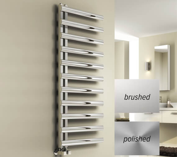 Reina Cavo 500mm Wide Polished Stainless Steel Designer Radiator