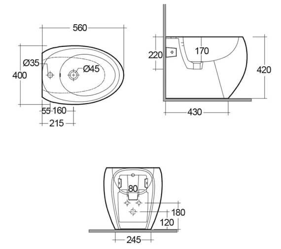 Technical drawing QS-V99479 / CLOBD2015AWHA