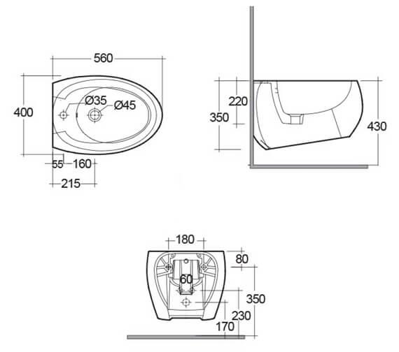 Technical drawing QS-V99480 / CLOBD2101AWHA