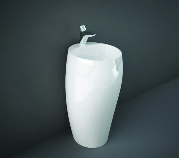RAK Cloud 500mm Wide Freestanding Washbasin With 1 Tap Hole