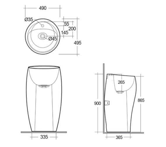 Technical drawing QS-V99482 / CLOFS5001AWHA