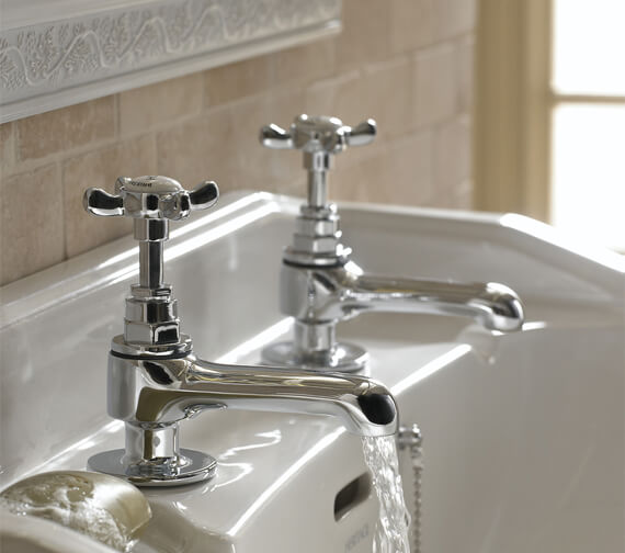 Additional image of Bristan 1901 Pair Of Traditional Basin Taps