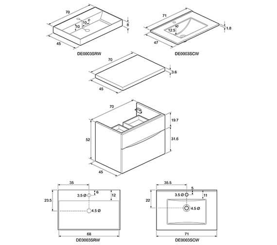 Technical drawing QS-V8840 / GL5000DWG+