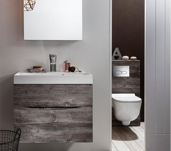 Crosswater Bauhaus Glide II Wall Hung Double Drawer Bathroom Unit