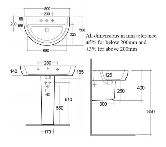 Technical drawing QS-V99496 / HAR65BAS1