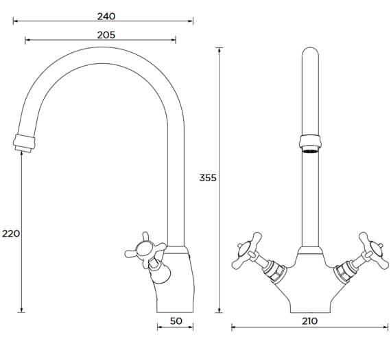 Technical drawing QS-V7567 / N SNK EF C