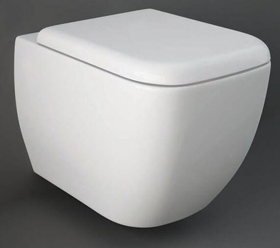 RAK Metropolitan Wall Hung WC Pan With Soft-Close Seat - 525mm Projection