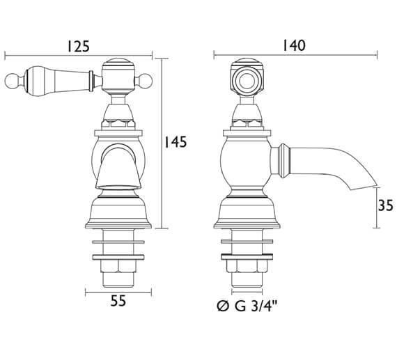 Technical drawing QS-V54889 / TGRC01