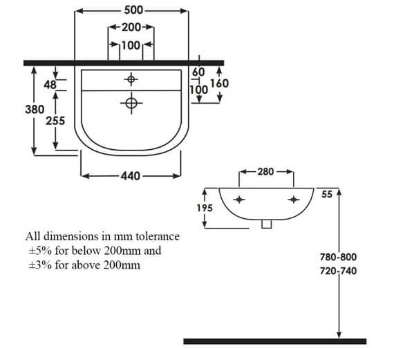 Technical drawing QS-V99494 / COM50BASSN