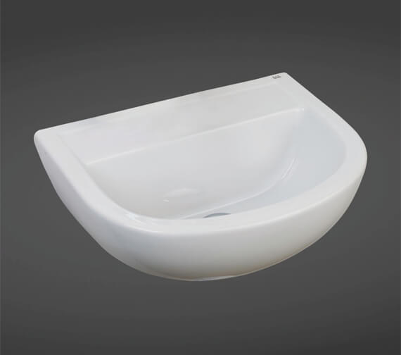 RAK Compact 50cm Special Needs Basin With No Tap Hole - No Overflow