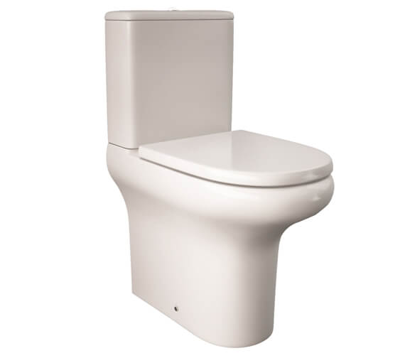 RAK Compact Deluxe 455mm High Rimless Close Coupled Fully BTW Close Coupled Toilet