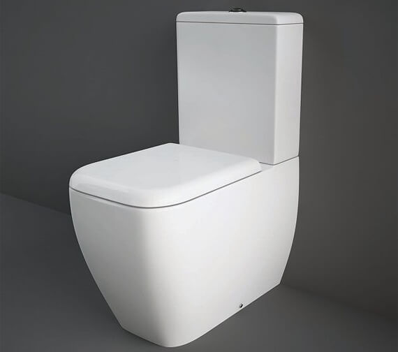 RAK Metropolitan Fully Back To Wall Close Coupled WC With Soft Close Seat