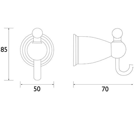 Technical drawing QS-V80619 / N2 HOOK C