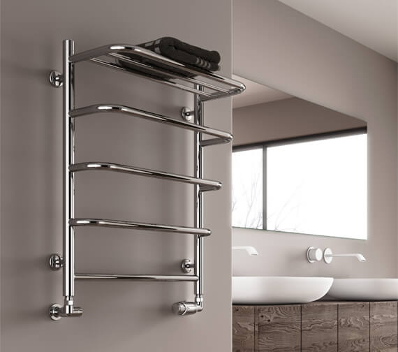 Reina Elvo 530 x 660mm Polished Stainless Steel Towel Rail
