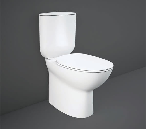 RAK Morning Fully Back-To-Wall Rimless Close Coupled WC Pack With Urea Soft Close Seat