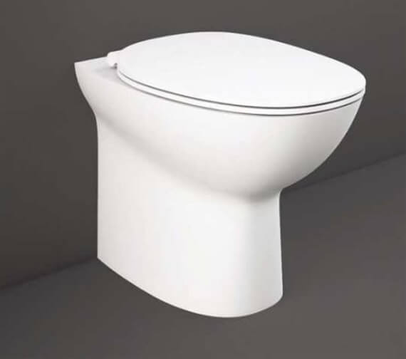 RAK Morning Rimless Back-To-Wall Floor Mounted Toilet With Soft Close Seat