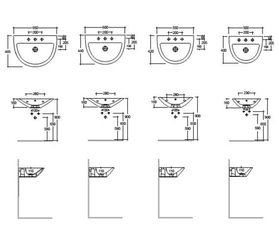 Technical drawing QS-V103012 / MORWB5001AWHA