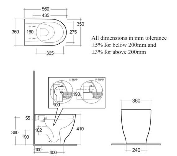 Technical drawing QS-V99498 / HARBTWPAN/SC