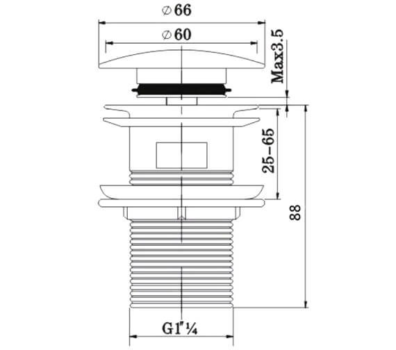 Technical drawing QS-V95931 / W BASIN04 C