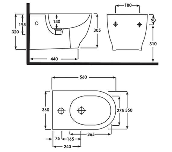 Technical drawing QS-V103000 / HARWHBID