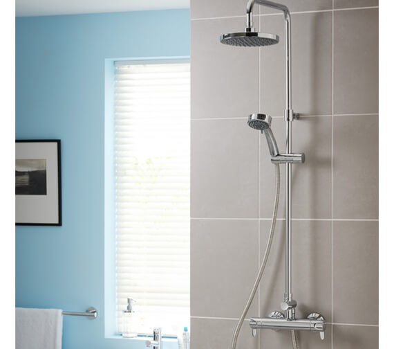 Triton Dene Lever Bar Diverter Mixer Shower Kit - Modern Design