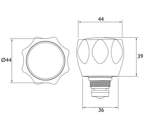 Technical drawing QS-V53074 / R 1/2 AC