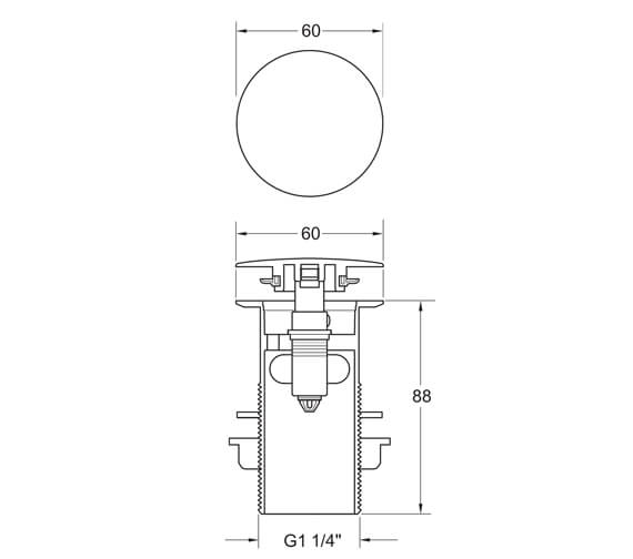 Technical drawing QS-V102717 / WST304