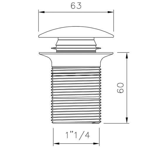 Technical drawing QS-V100343 / AB2614