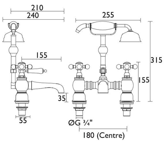Technical drawing QS-V53324 / THRC02