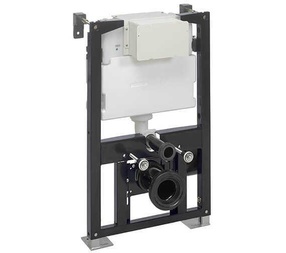 Crosswater Bauhaus 500mm Wide WC Support Frame With Dual Flush Cistern