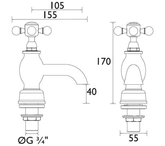 Technical drawing QS-V53320 / THRC01