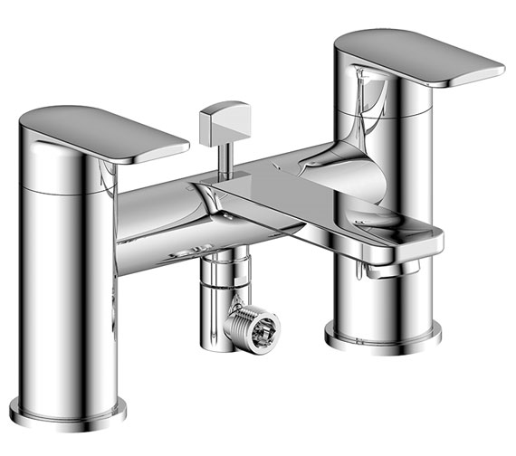 Pura Suburb Bath Shower Mixer Tap With Handset And Wall Bracket