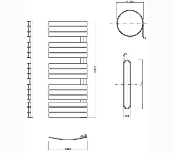 Technical drawing QS-V36429 / ES55X108C