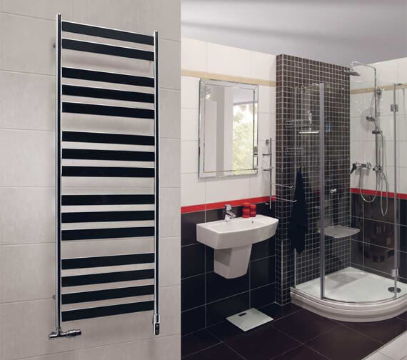 Additional image of Zehnder Zeta Central Heating Towel Rail
