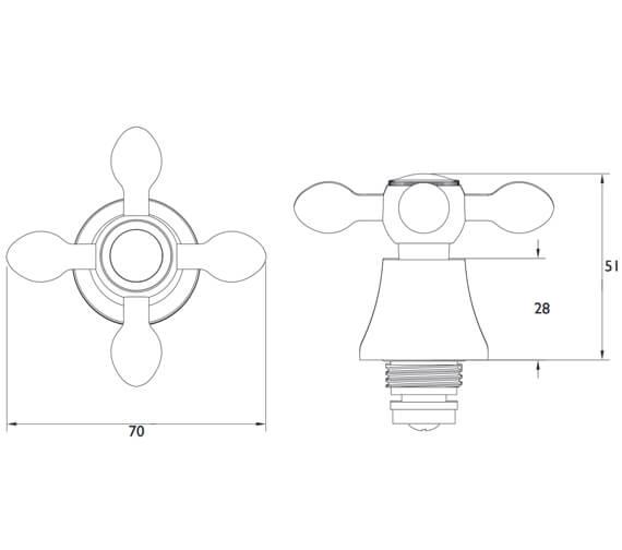 Technical drawing QS-V53076 / R 1/2 TC