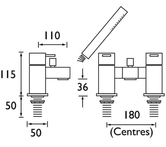 Technical drawing QS-V52122 / QD BSM C