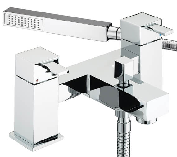 Additional image of Bristan Quadrato Bath Shower Mixer Tap With Shower Kit
