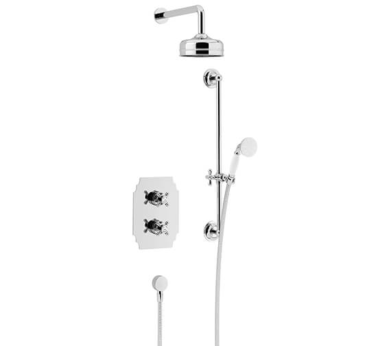 Heritage Hartlebury Recessed Thermostatic Shower Valve With Fixed Head And Kit