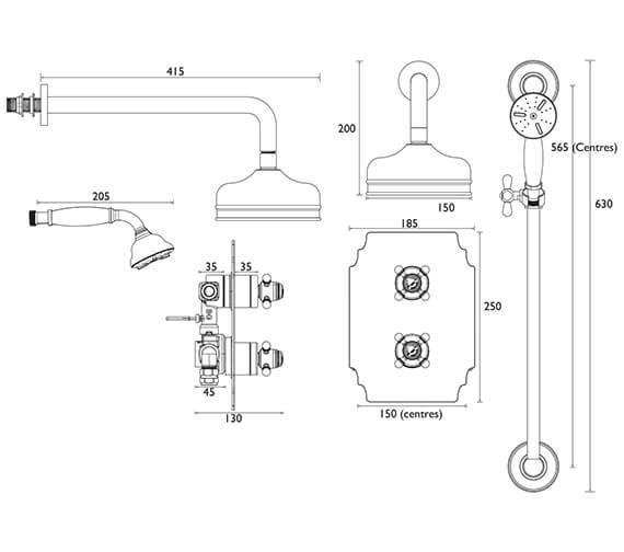Technical drawing QS-V82411 / SHDDUAL05
