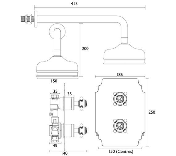 Technical drawing QS-V82409 / SHDDUAL03