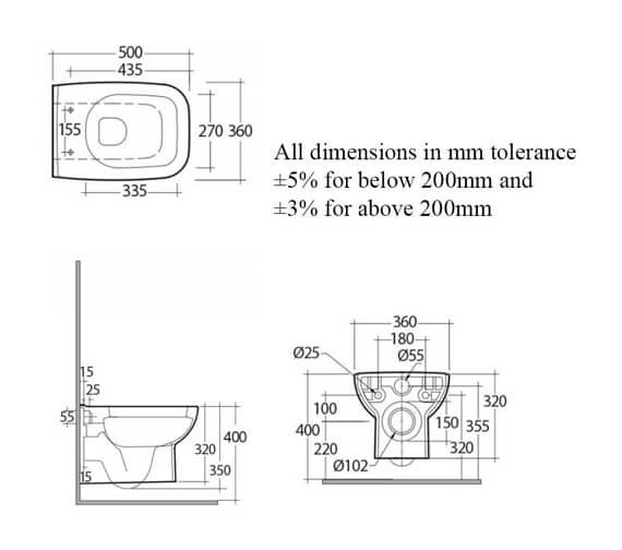 Technical drawing QS-V103016 / ORIWHPAN/SC
