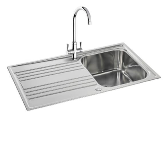Carron Phoenix Rapid 90 Linen 1.0 Bowl Inset Kitchen Sink