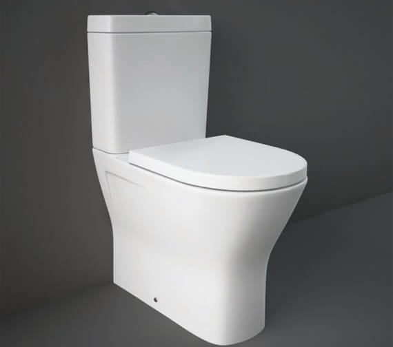 RAK Resort Maxi Close Coupled Back to Wall Rimless Toilet WC Pack