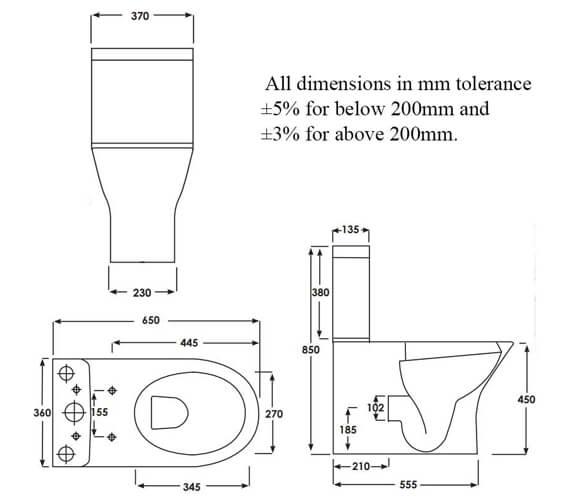 Technical drawing QS-V103023 / RSTBTWPAK-MX