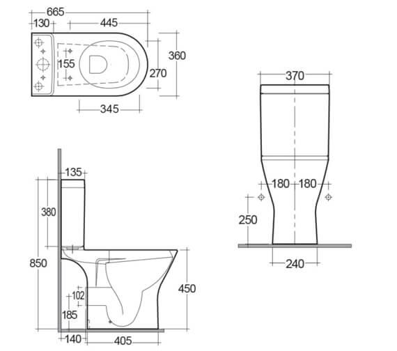 Technical drawing QS-V99734 / RSTPAK-MX