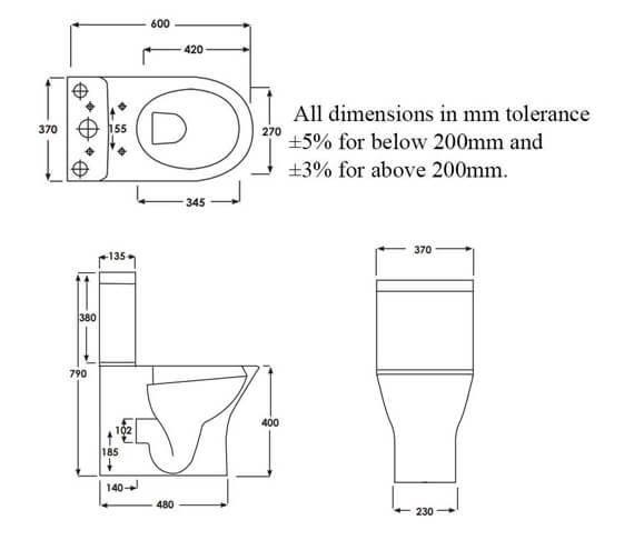 Technical drawing QS-V99732 / RSTBTWPAK-MI